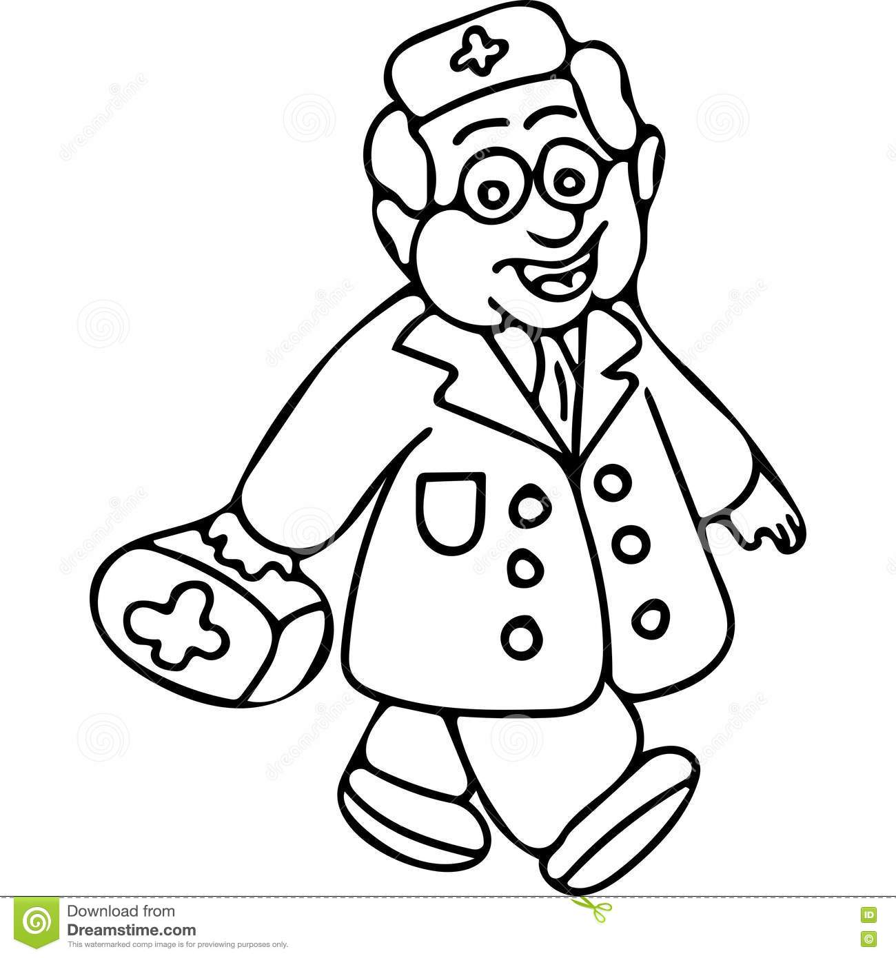 doctor book kids coloring page stock illustration image 78796484