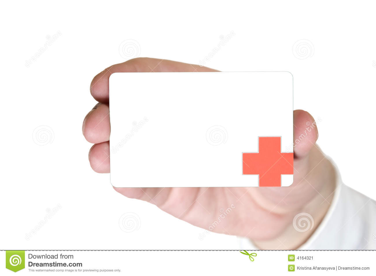Doctor Business Card stock image. Image of holding, human - 4164321