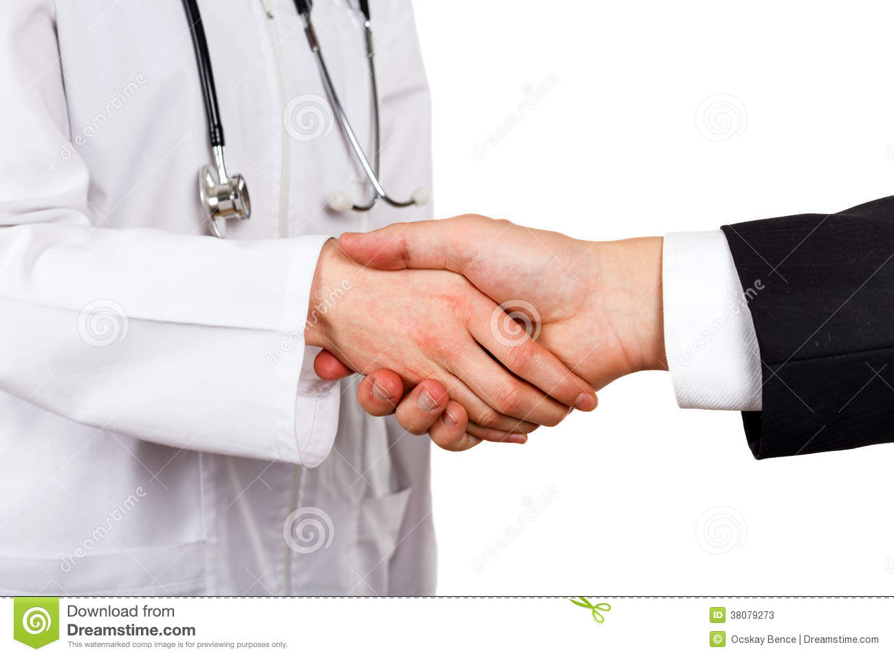 Doctor And Businessman Stock Photos - Image: 38079273