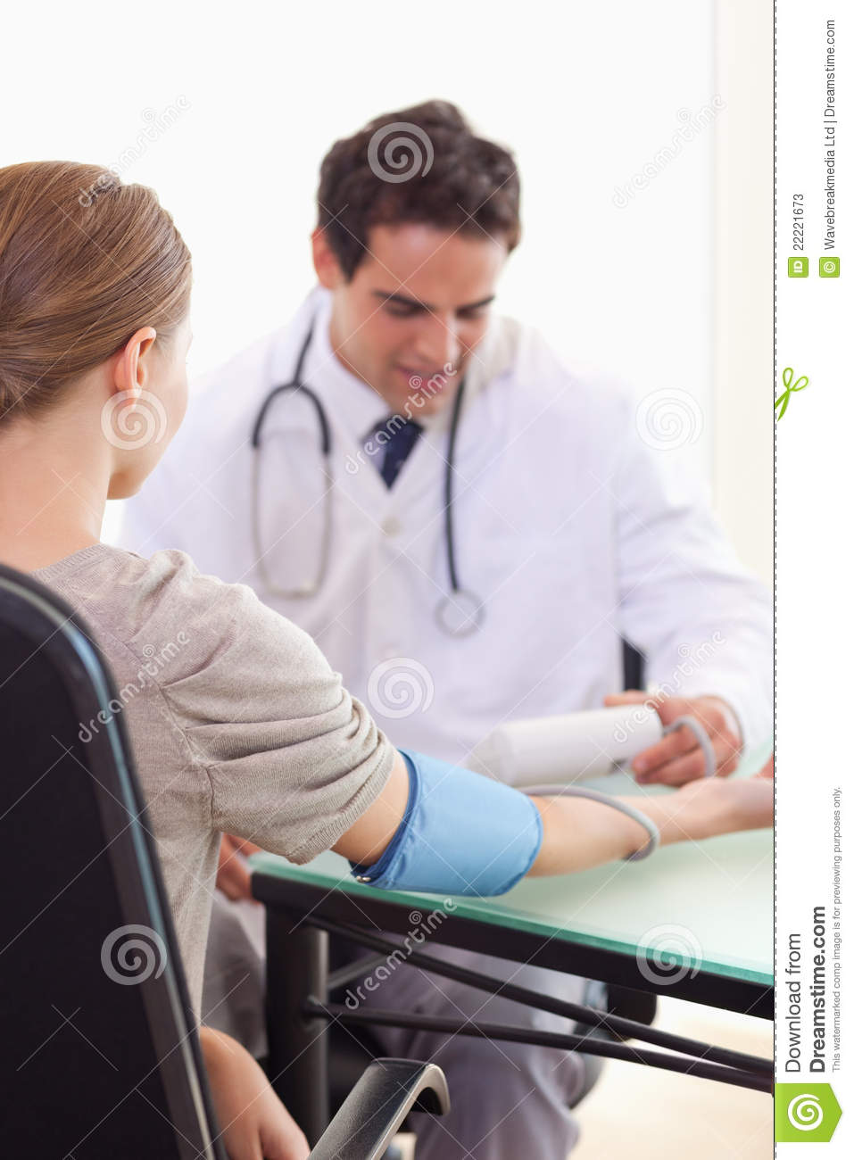 Doctor Checking His Patients Blood Pressure Stock Photos - Image ...