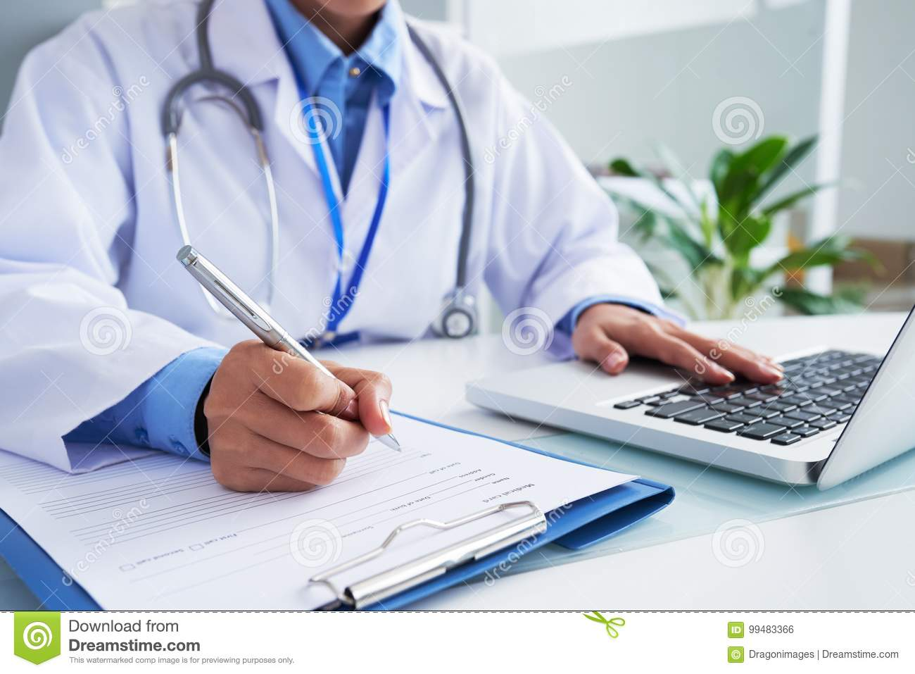 download filling document stock photo image of information specialist 99483366