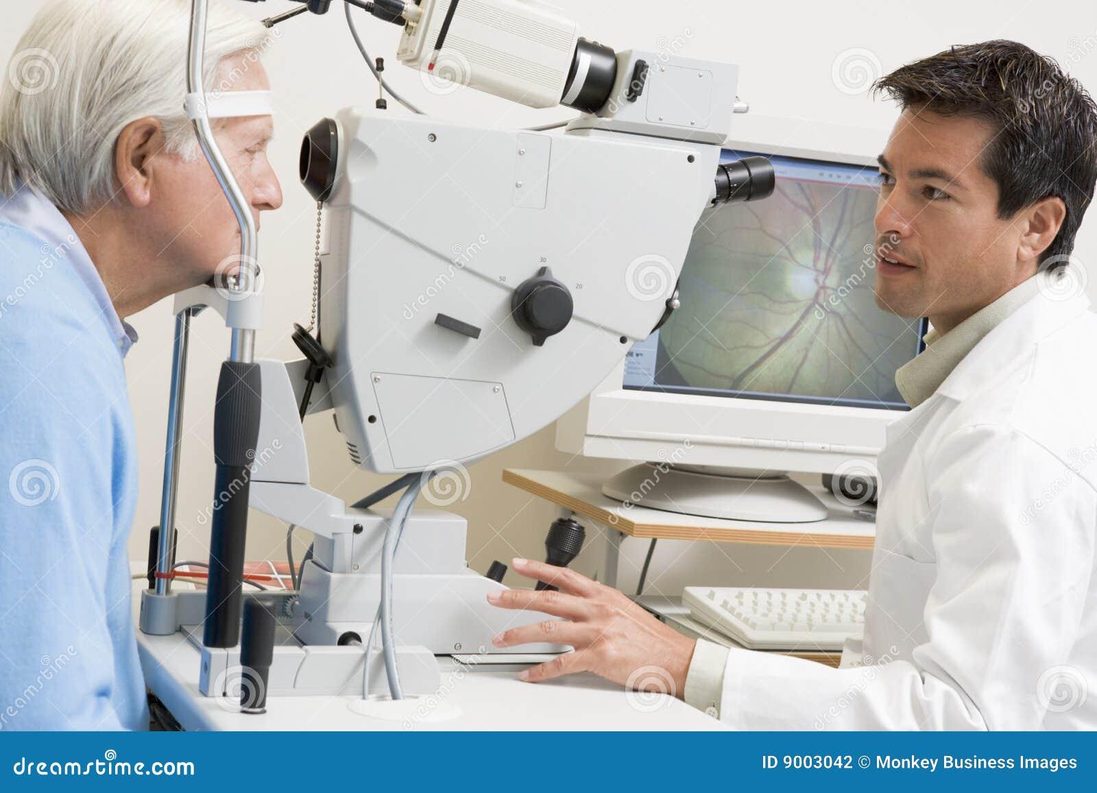 Glaucoma Cartoon Vector