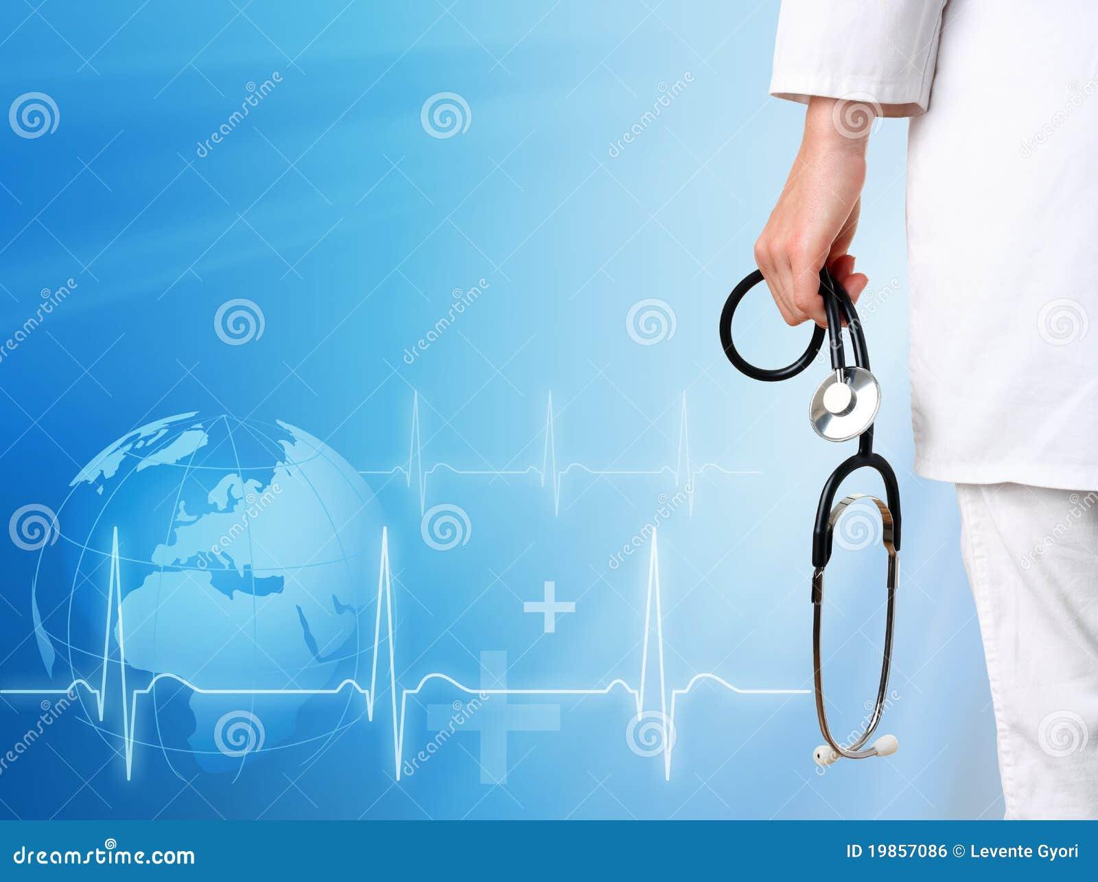 Doctor con el fondo médico