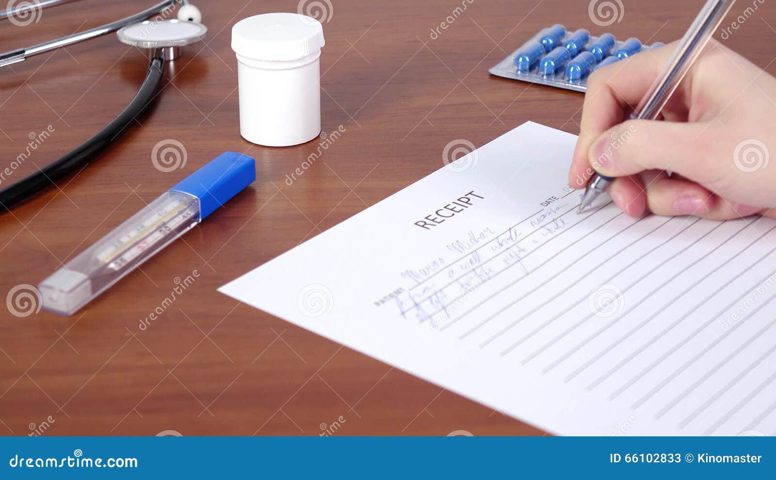 writing a receipt