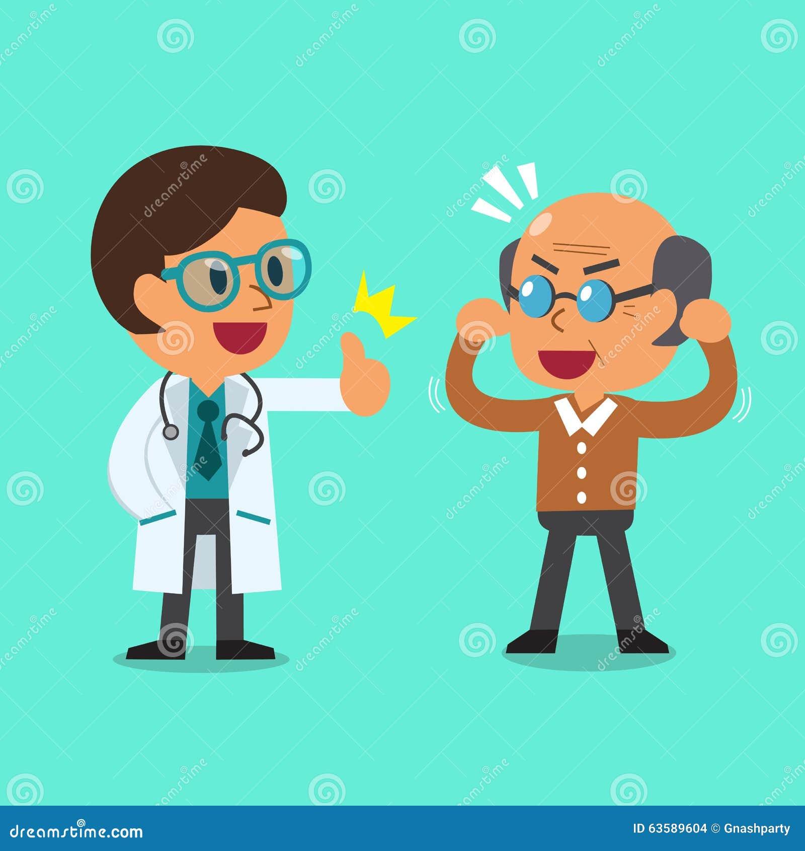 Doctor de la historieta y viejo hombre