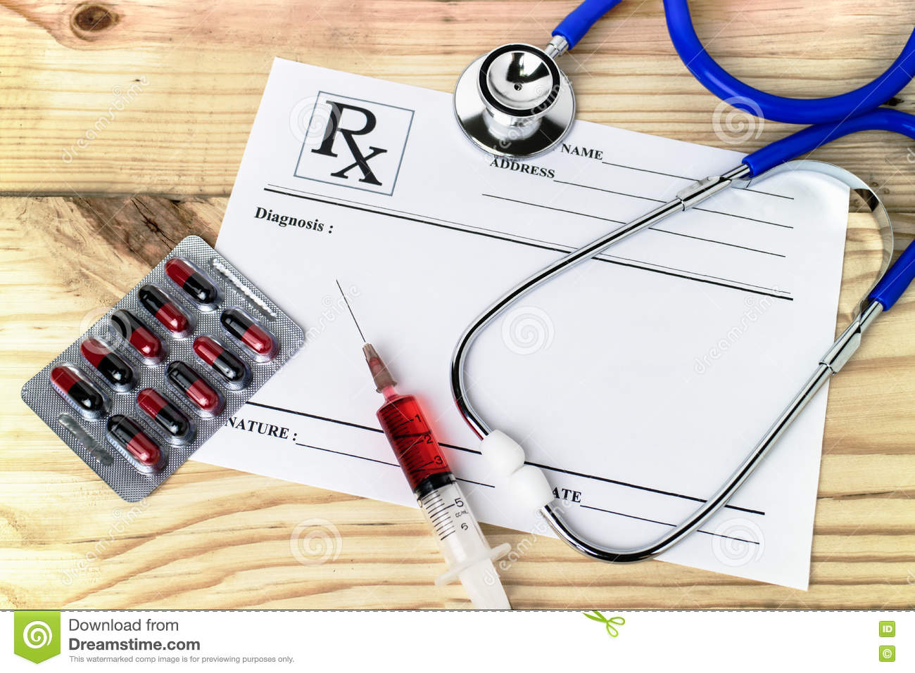 Doctor desk with medical equipment prescription sheet blanked d download doctor desk with medical equipment prescription sheet blanked d stock image image of greentooth Gallery