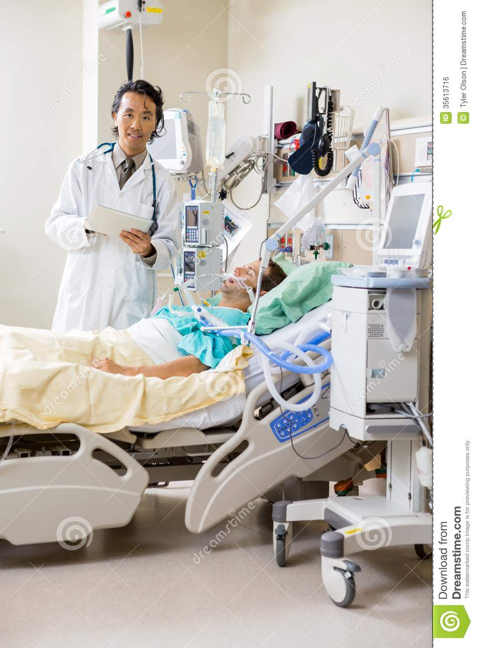 Doctor with Patients in Hospitals