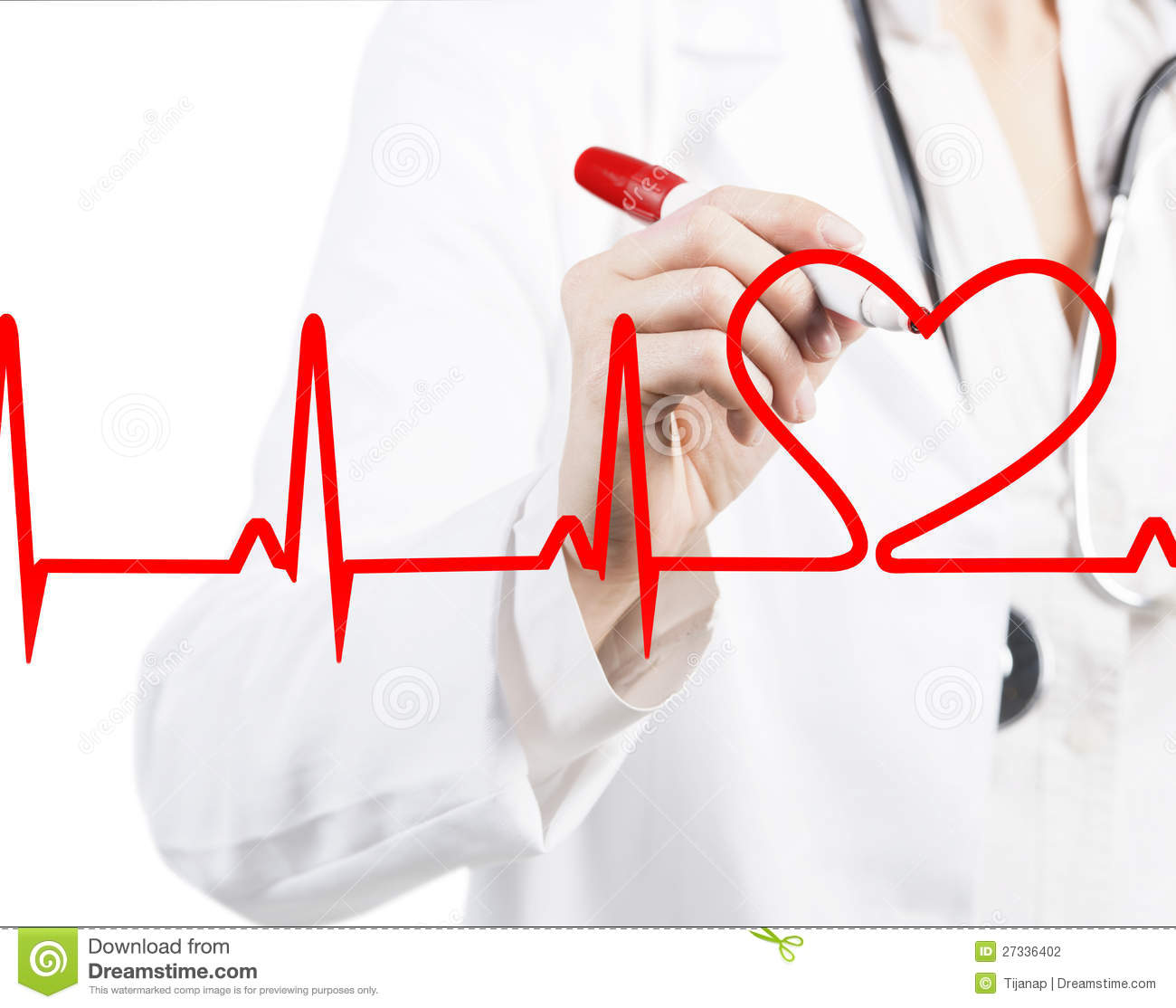 Doctor Drawing A Heart Beat Ecg Stock Photo Image Of Care Doctor