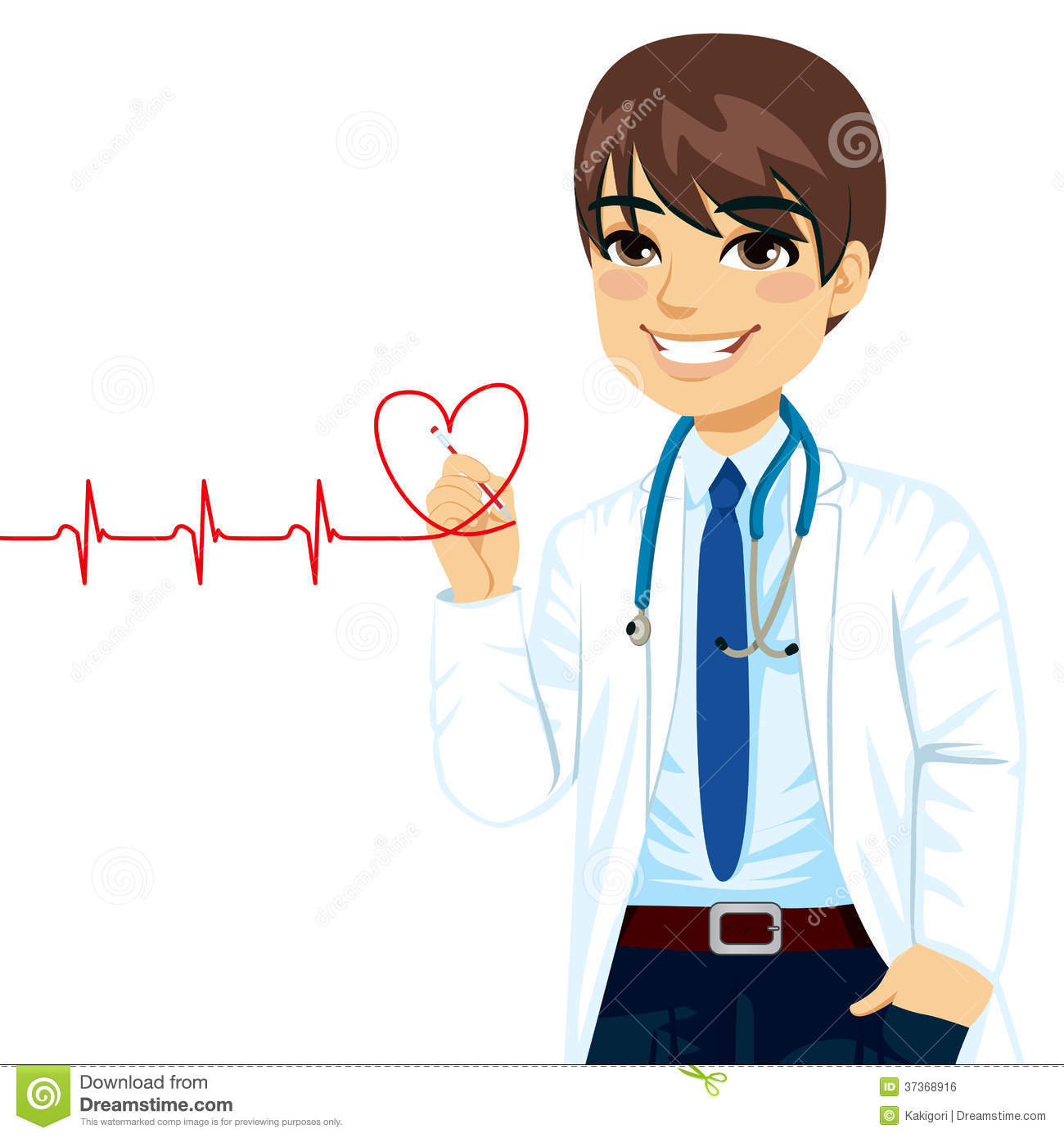 Doctor Drawing Heart Royalty Free Stock Image Image