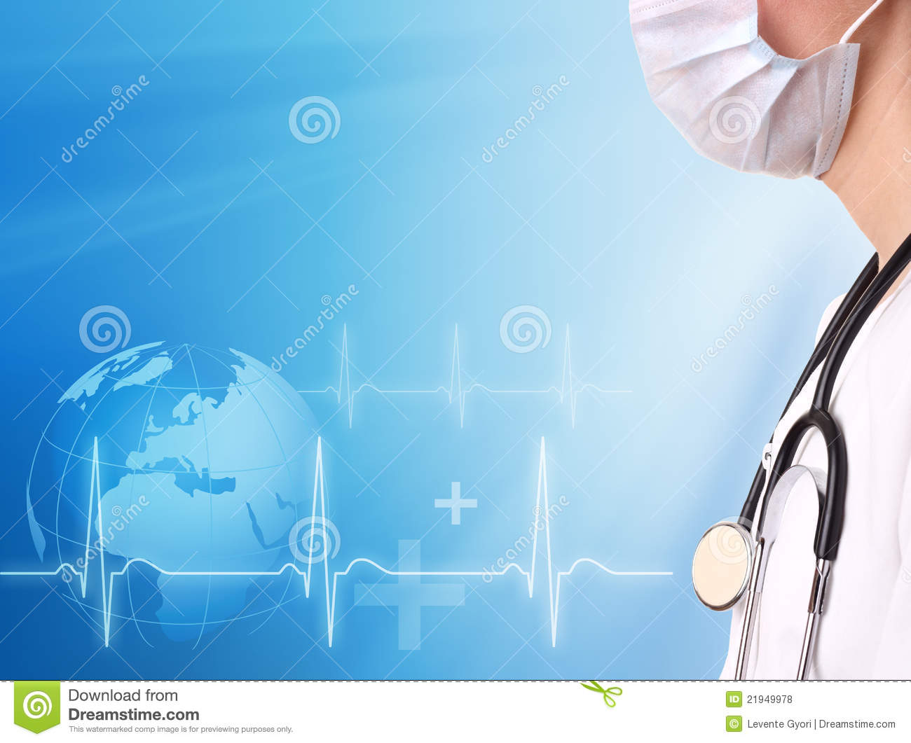 Doctor And Ecg Line With Medical Background Royalty Free Stock Photos ...