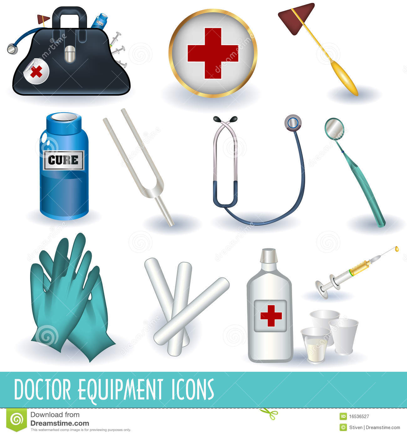 Doctor Equipment Icons Editorial Photography