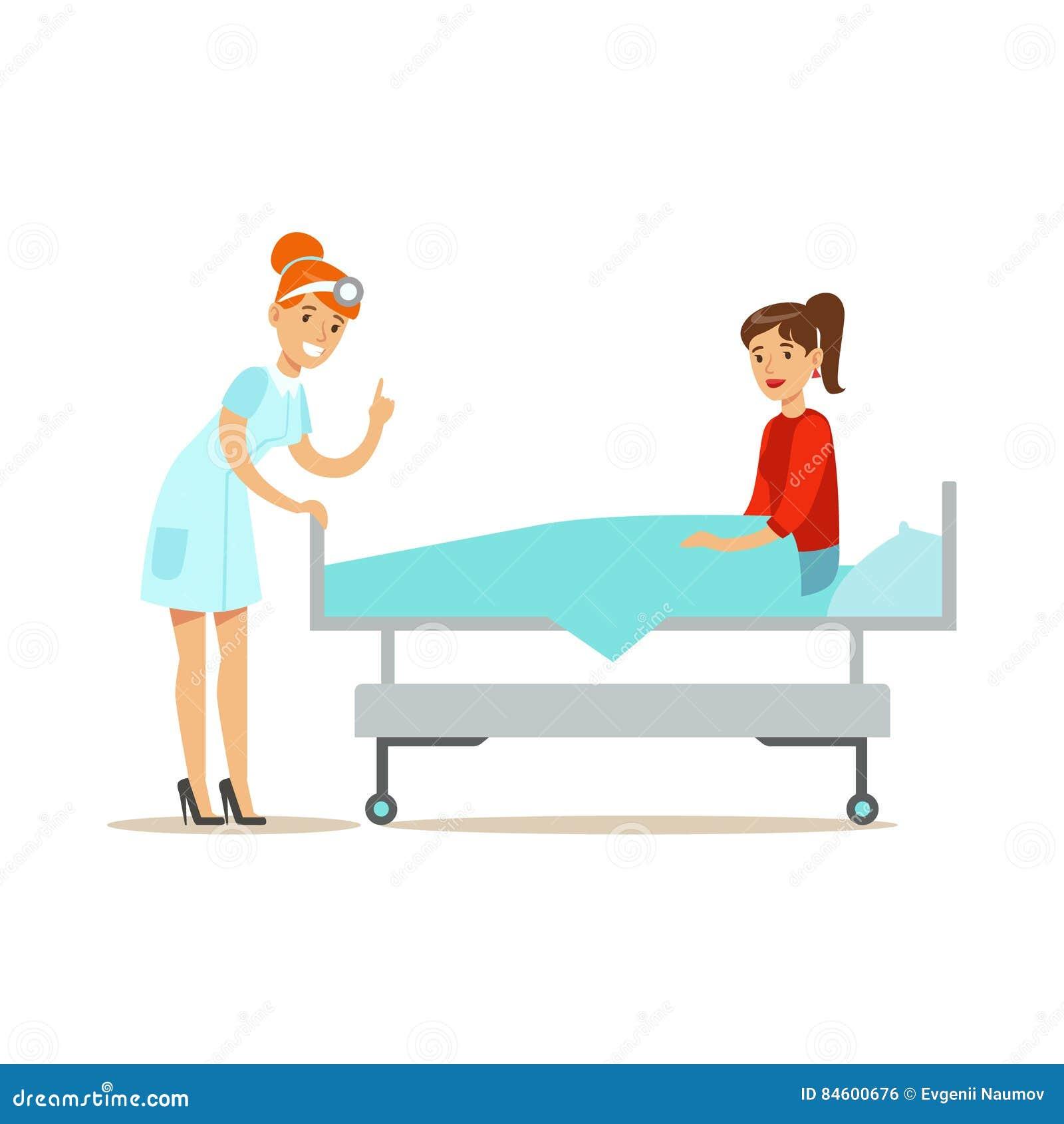Hospital Bed Illustration Royalty Free Illustration
