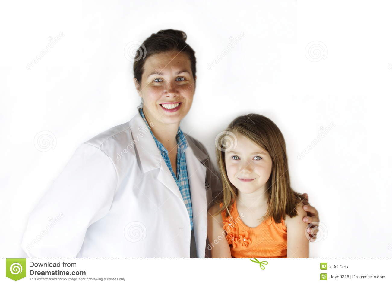 Doctor with girl patient