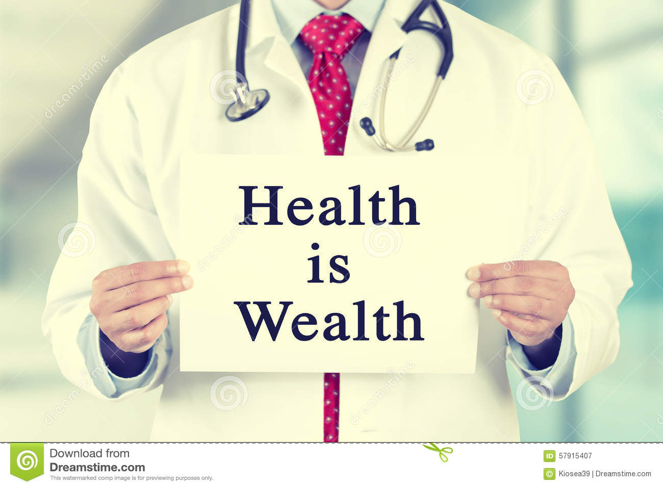 doctor hands holding white card sign with health is wealth doctor clipart tools doctor clipart tools