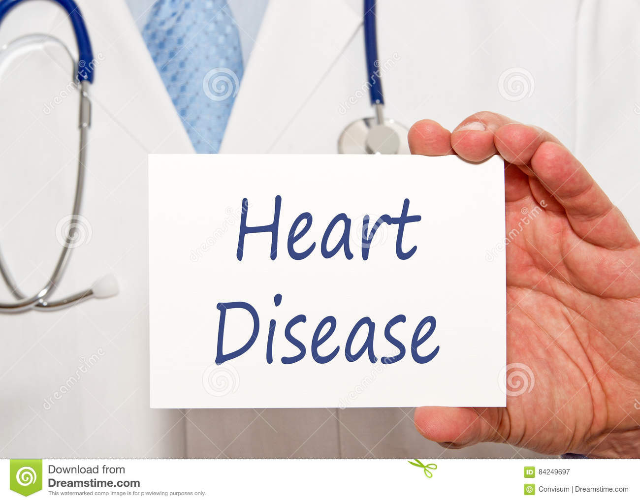 Doctor with Heart Disease sign