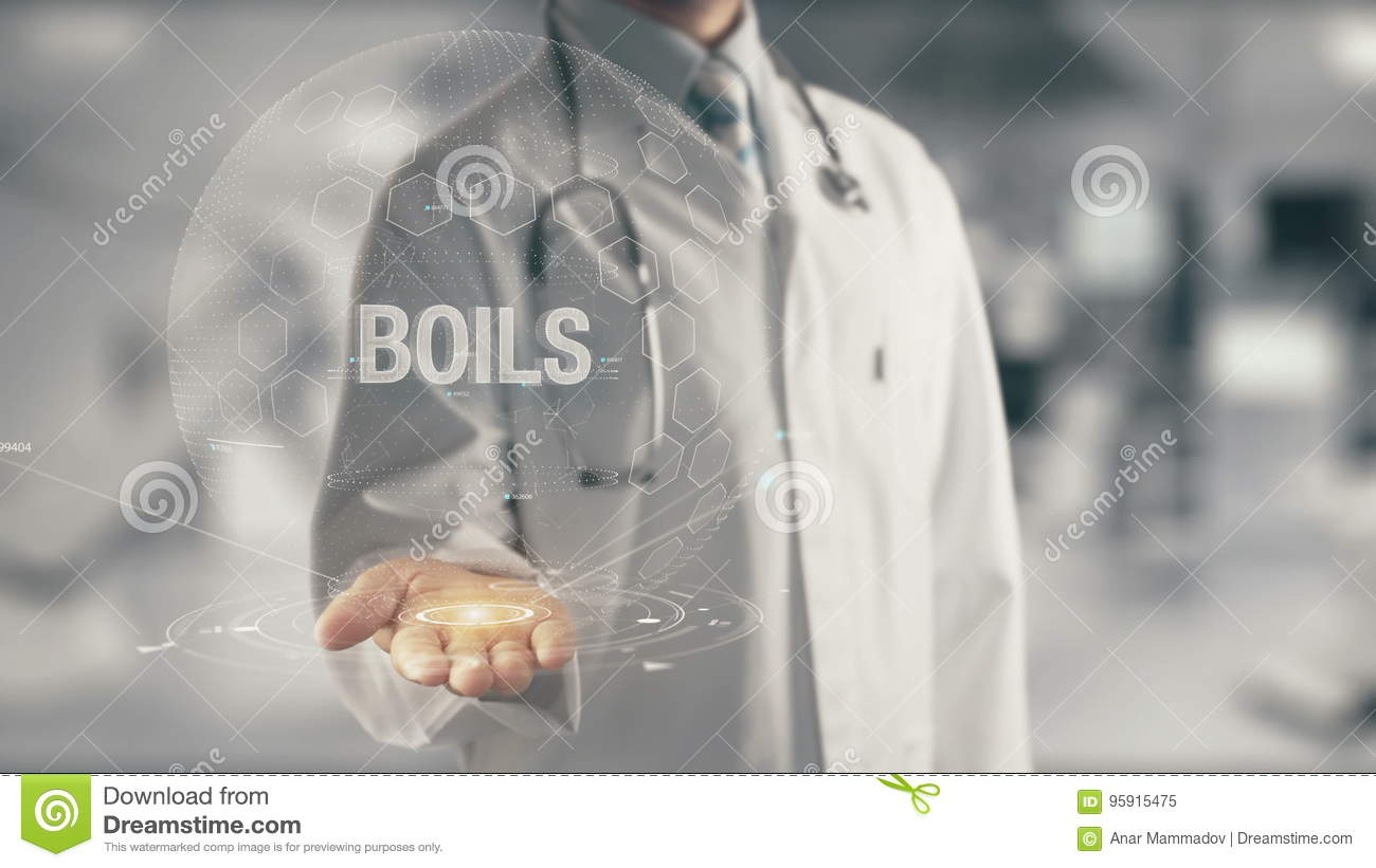 Doctor Holding In Hand Boils Stock Video - Video of