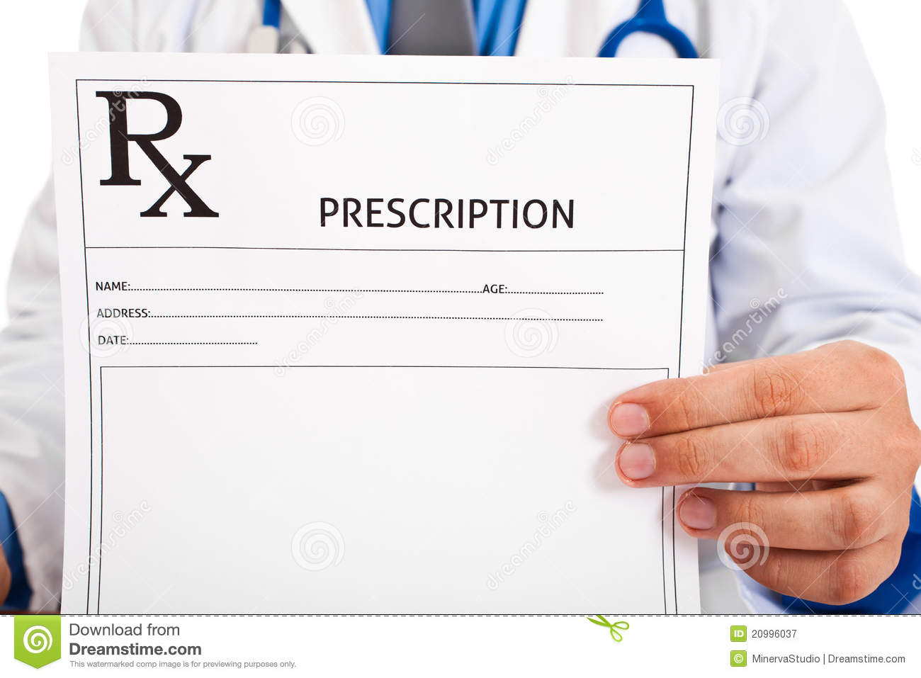 Doctor Holding Prescription Royalty Free Stock Photography ...