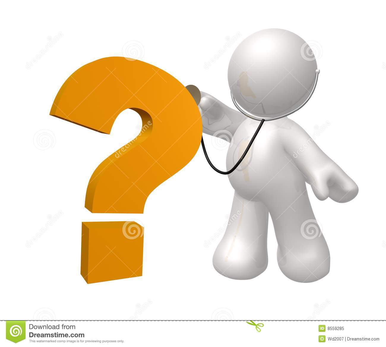 Doctor Icon Figure Checking Question Royalty Free Stock Photo - Image ...