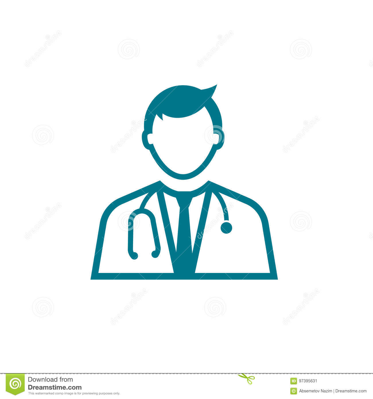 doctor icon logo on white background template vector stock vector