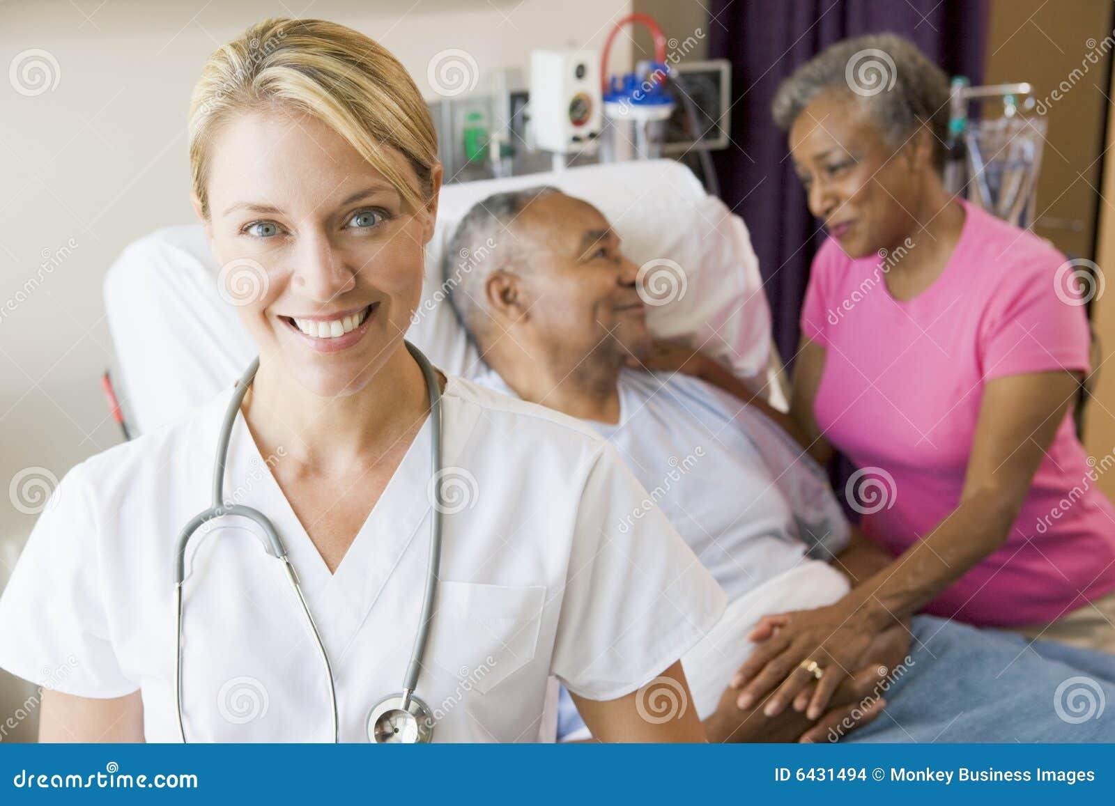 Doctor Looking Cheerful In Hospital Room