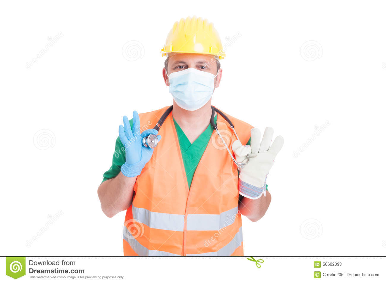 Doctor Medic Or Builder Or Constructor Jobs Stock Image