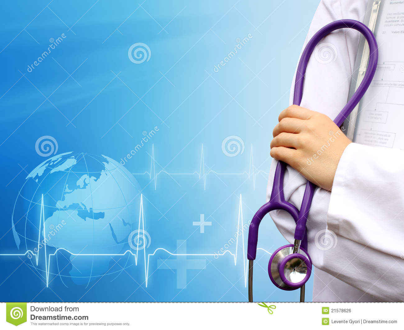 Doctor Background Doctor with medical blue