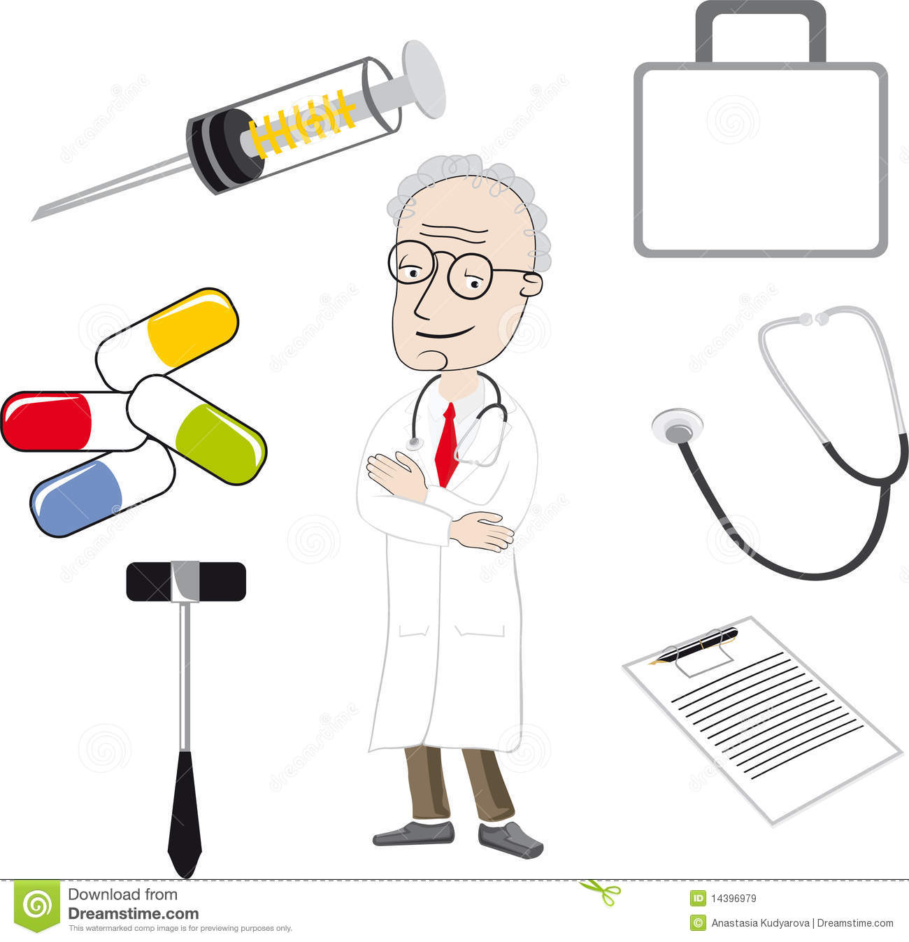 The Doctor And Medical Tools Royalty Free Stock Images