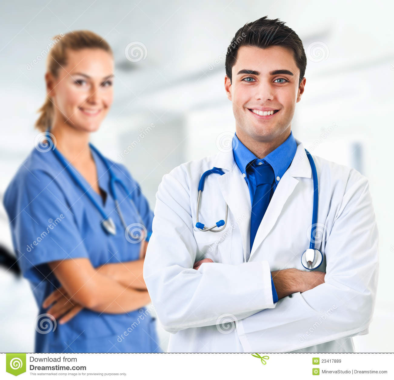 doctor and nurse royalty free stock images image 23417889