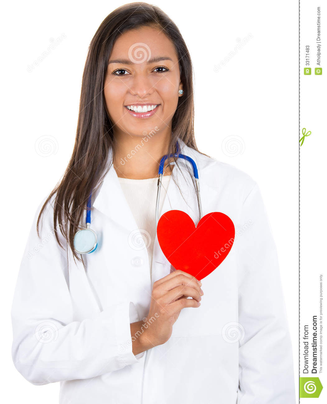 Doctor Or Nurse Holding Heart To Heart Stock Photos - Image: 33171483