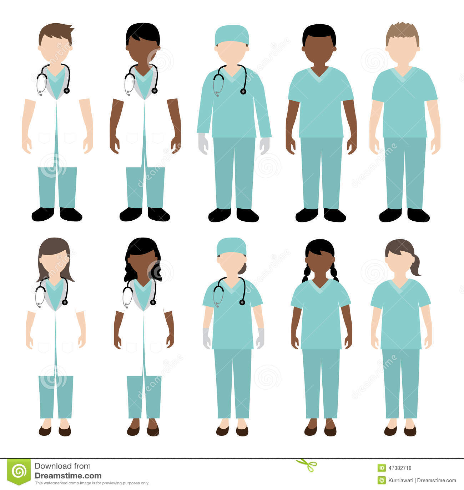Male Nurse Clipart: Nurse Doctor Scrubs Acrylic Blank