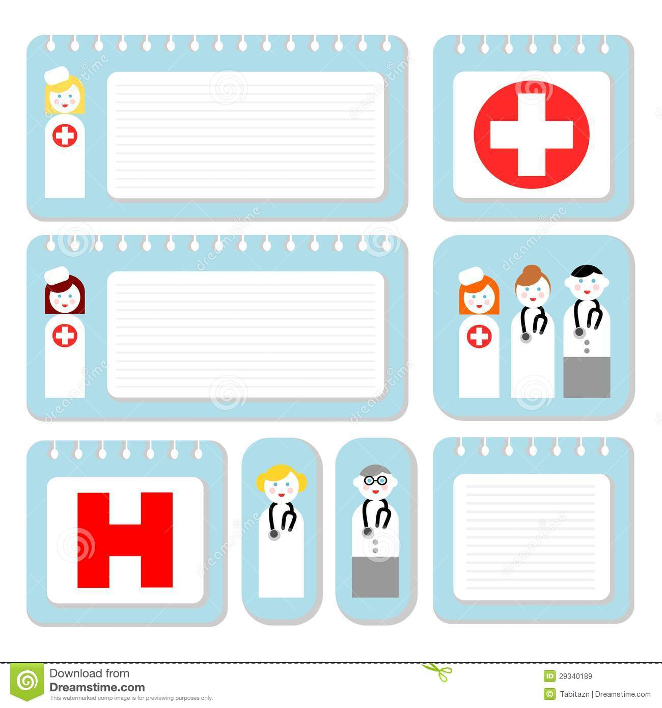 Doctor And Nurse Note Paper Royalty Free Stock Images For Hospital Id Badge Template