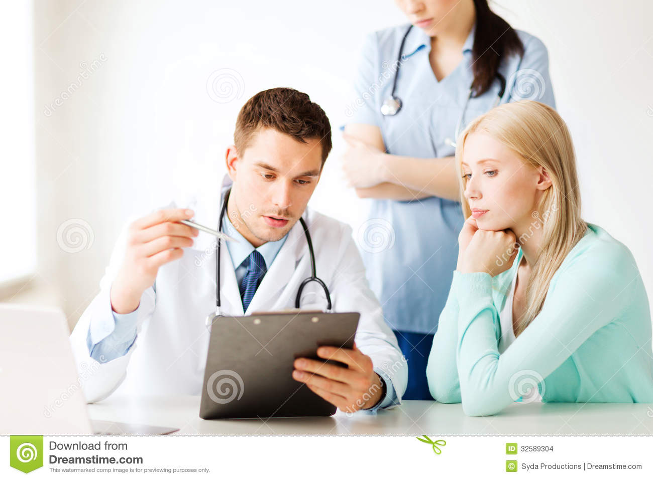 Healthcare and medical concept - doctor and nurse with patient in ...