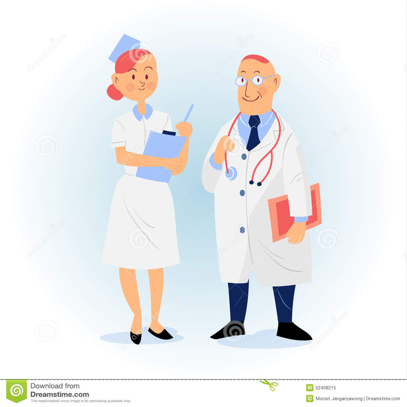 doctor and nurse vector illustration stock vector image pediatrician doctor clipart pediatrician clip art cartoon