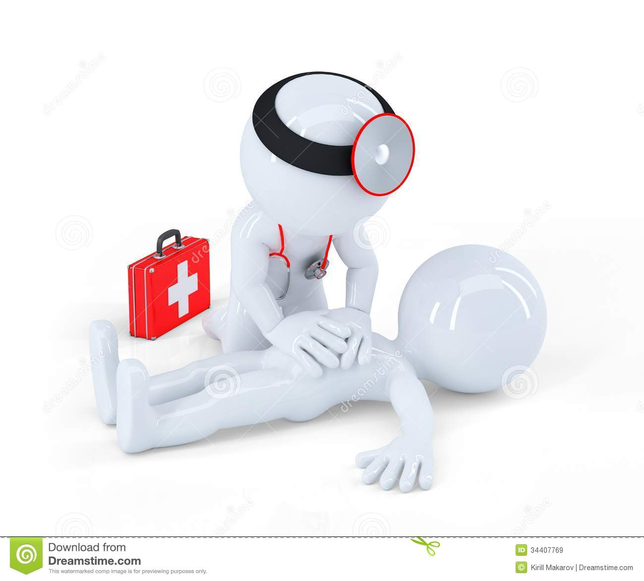 Doctor Providing First Aid Royalty Free Stock Images - Image: 34407769
