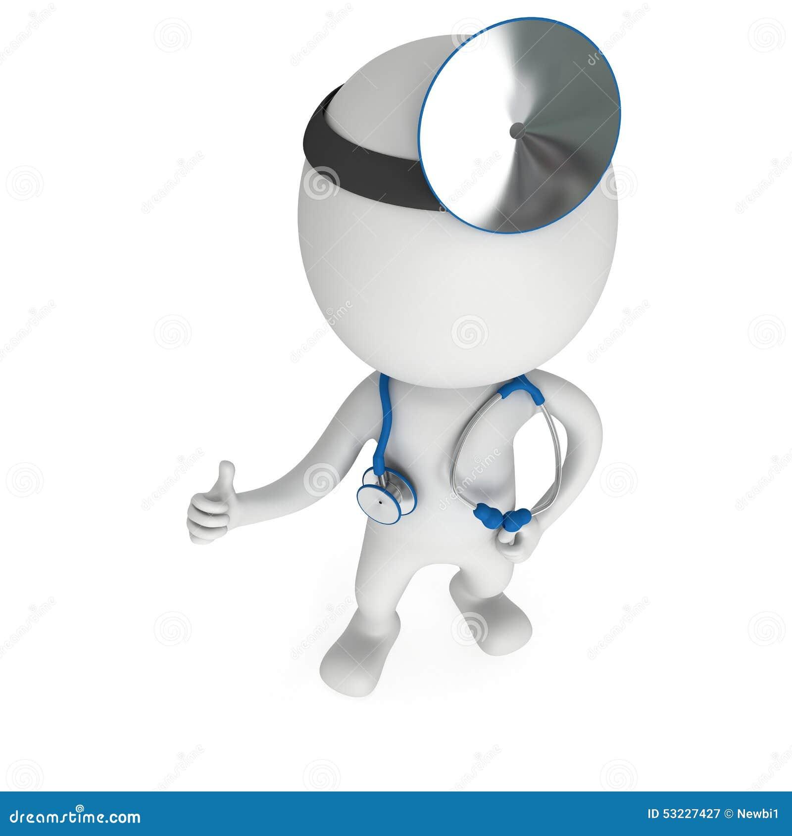 Doctor que muestra los pulgares para arriba