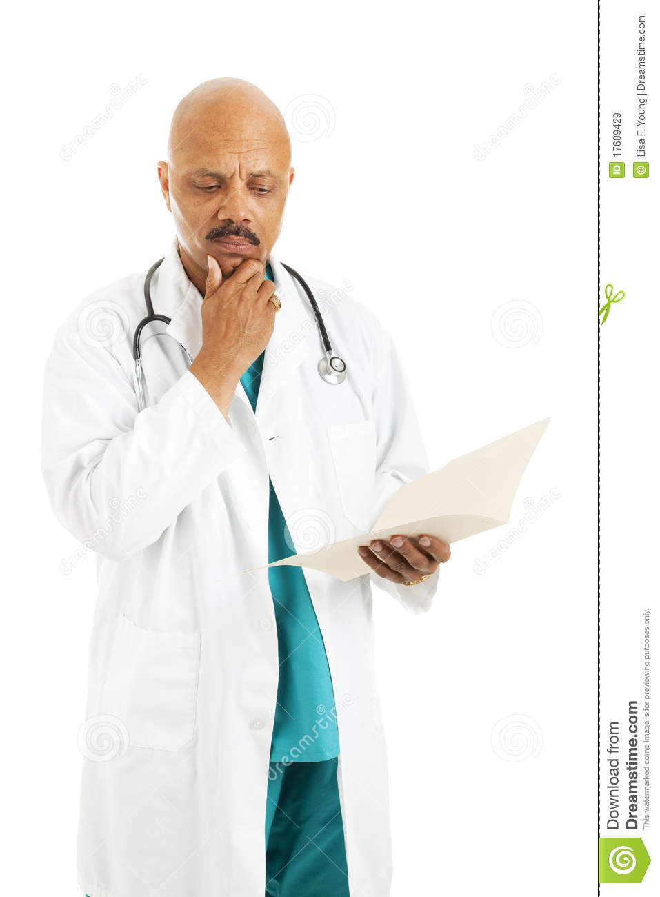 Doctor Reviews Patient Chart Stock Image - Image of doctors
