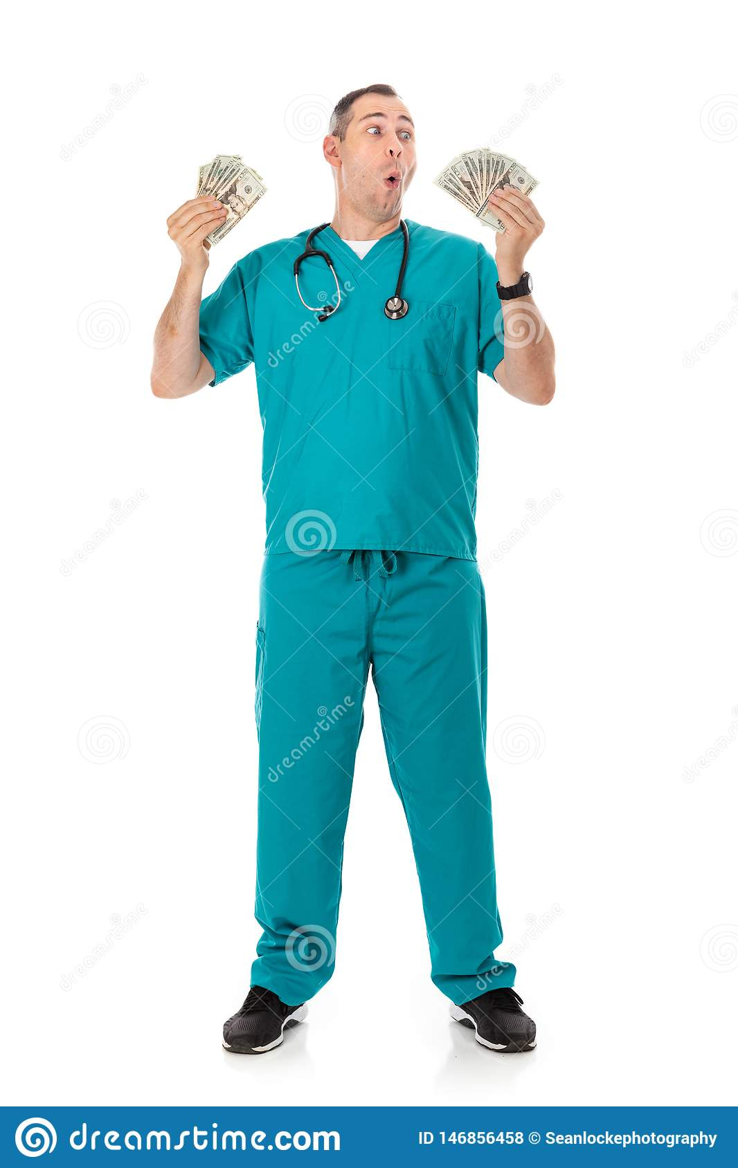 Doctor: Rich Doctor Waving Cash Money Around