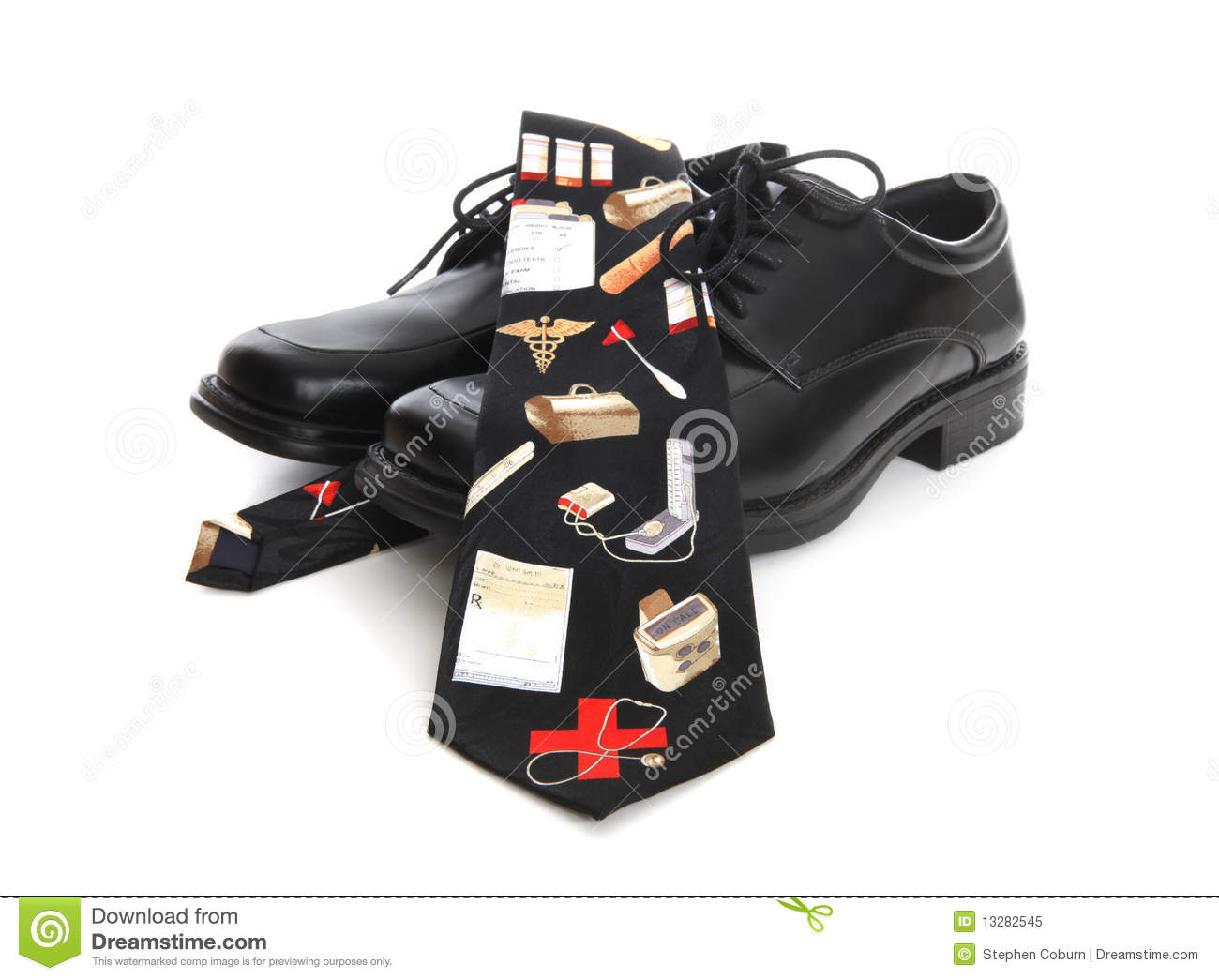 Royalty Free Stock Photo: Doctor Shoes and Tie