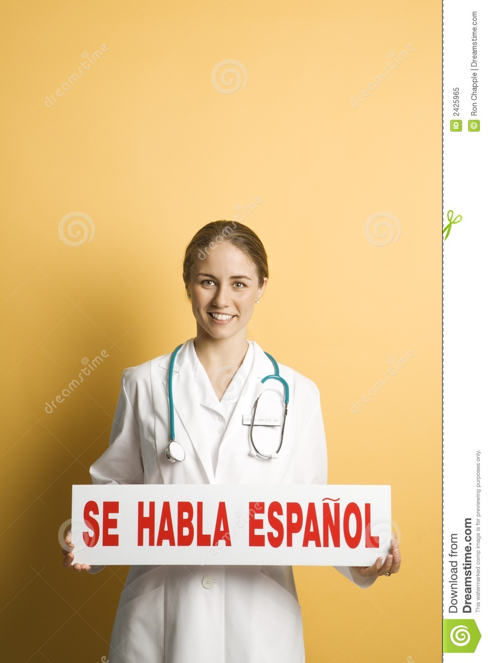 Doctor And Spanish Sign. Royalty Free Stock Photo - Image: 2425965