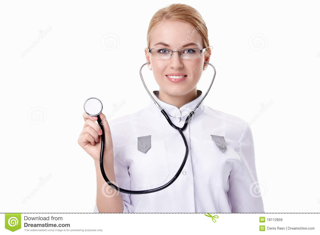 Doctor With Stethoscope Royalty Free Stock Image - Image: 18112856