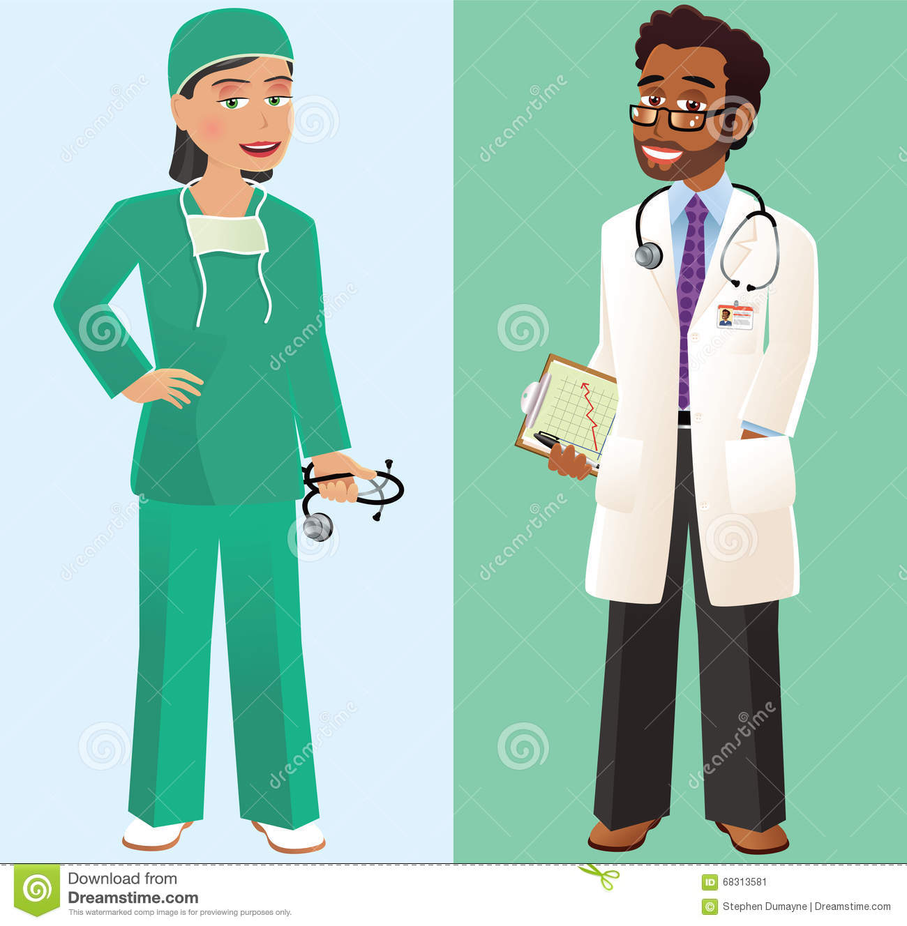 Doctor and surgeon stock vector  Illustration of people
