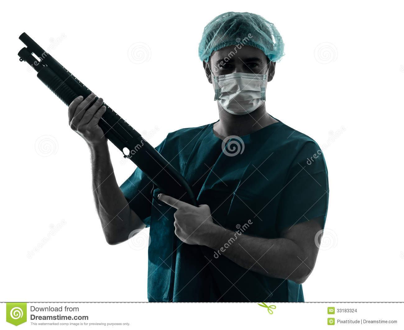 Doctor surgeon man with face Surgeon Silhouette