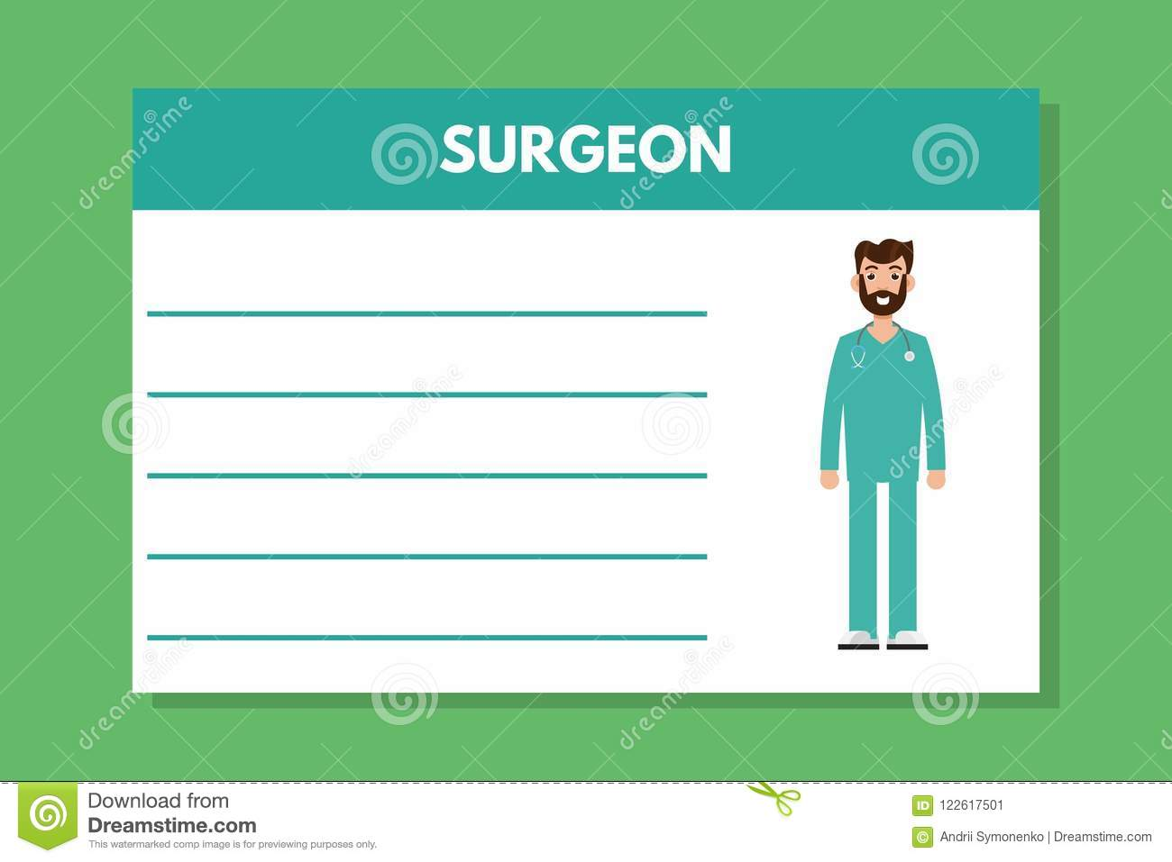 About Doctor Surgeon Template. Medical Professional Notes. Stock ...