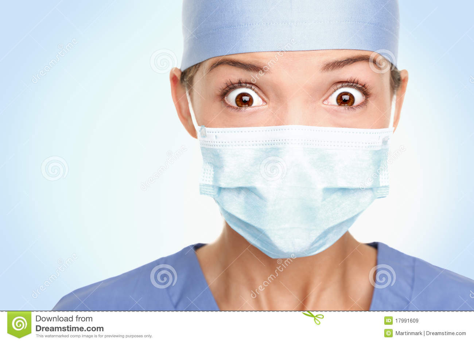 Doctor surgeon woman shocked