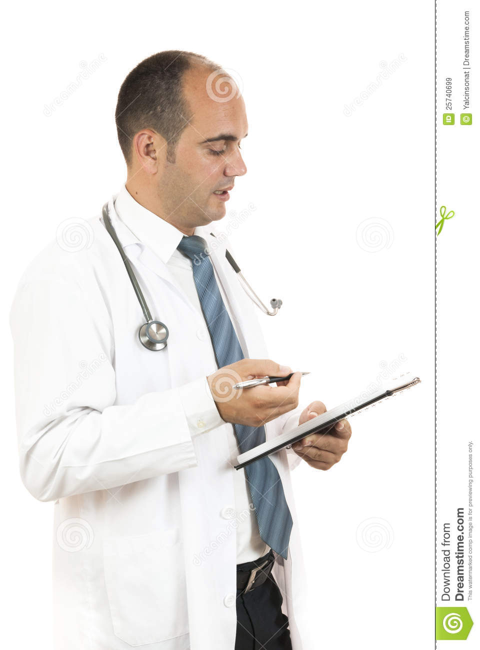 Doctor taking notes