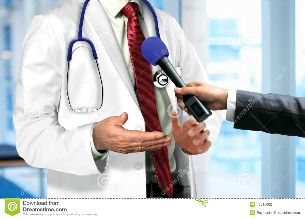 press interview doctor stock photo image 42451969 doctor talking to microphone stock photography