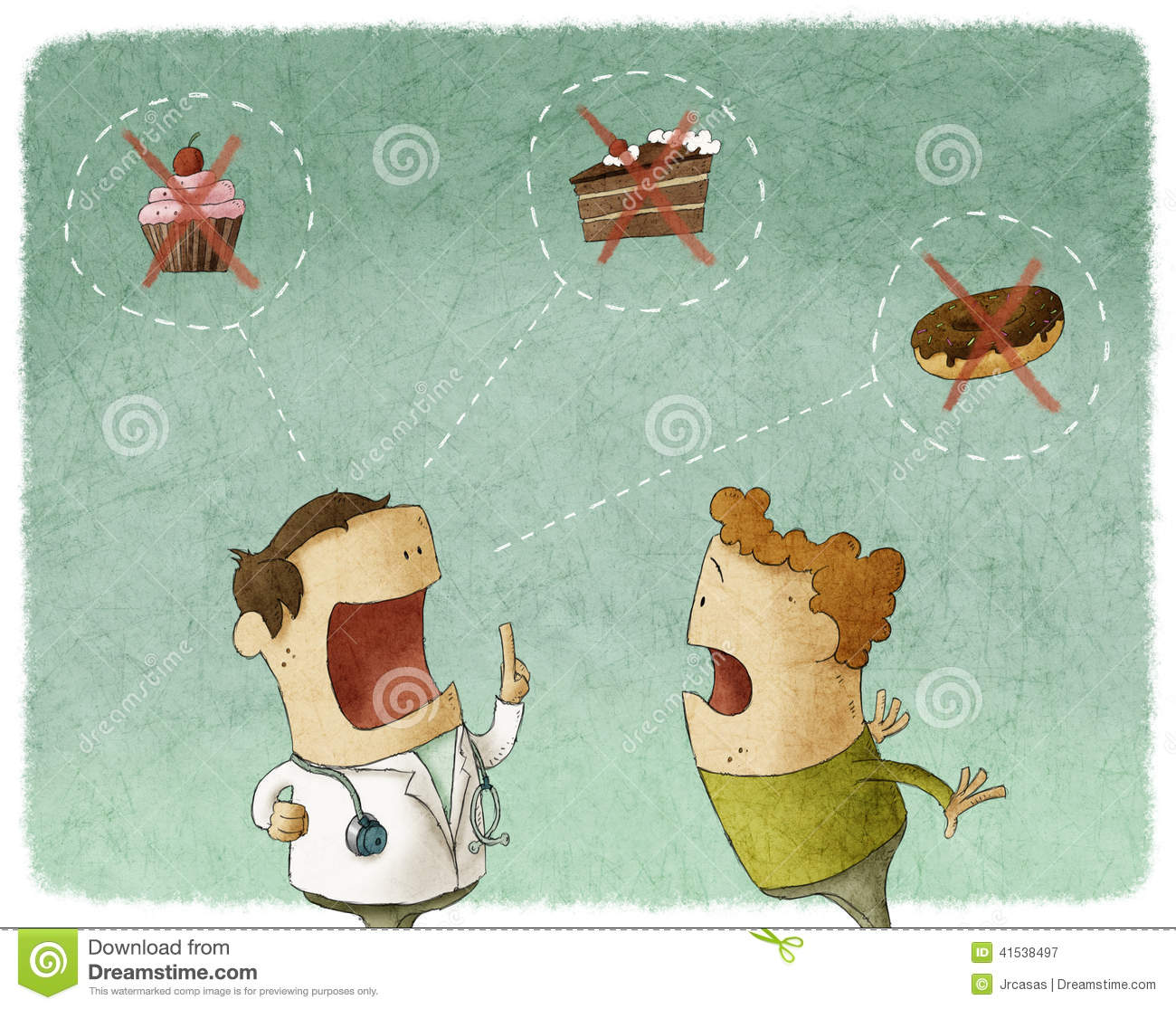 Download Doctor Talking To Patient Not Eat Sweet Food Stock Illustration - Illustration of fast, healthy: 41538497