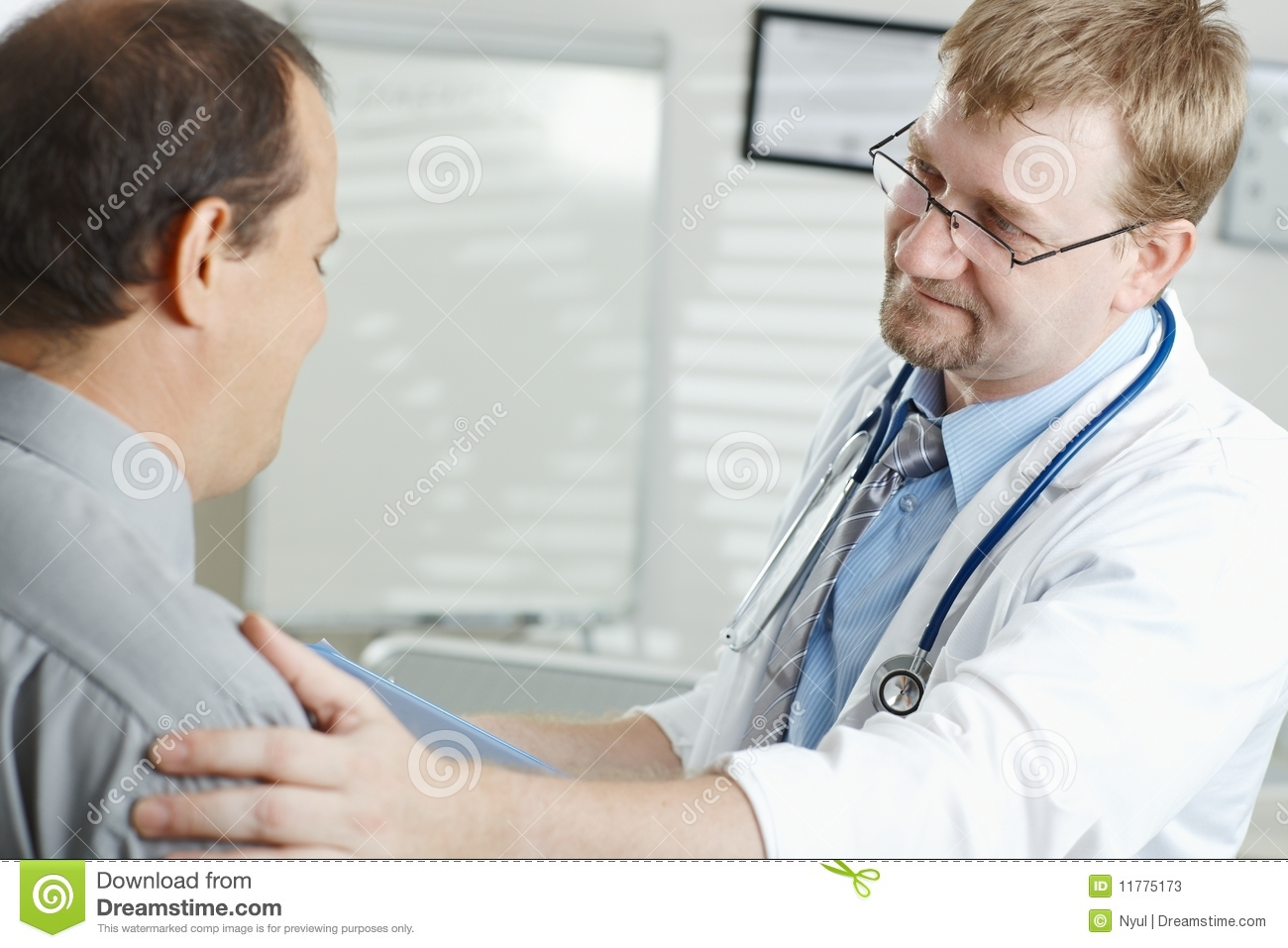 Doctor telling bad news
