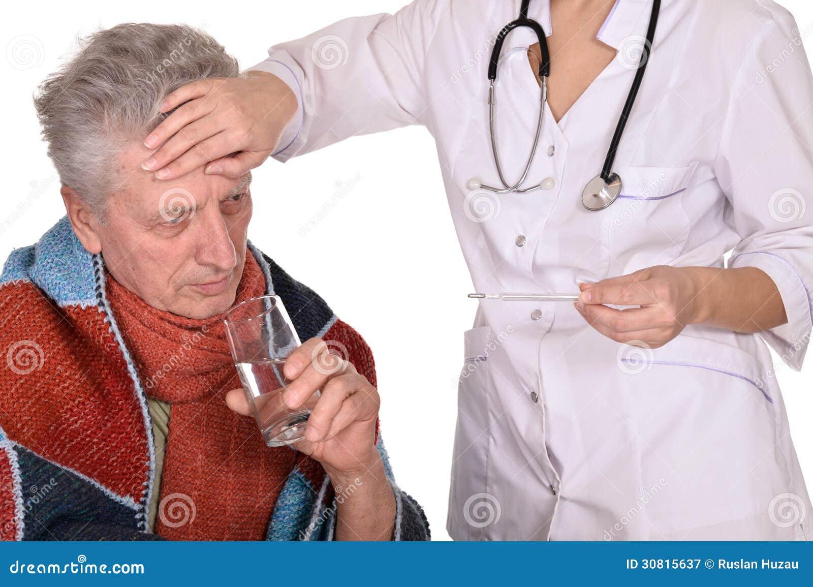 Caucasian Older Man Caring Elderly Sick Stock Photo 135039956 ...