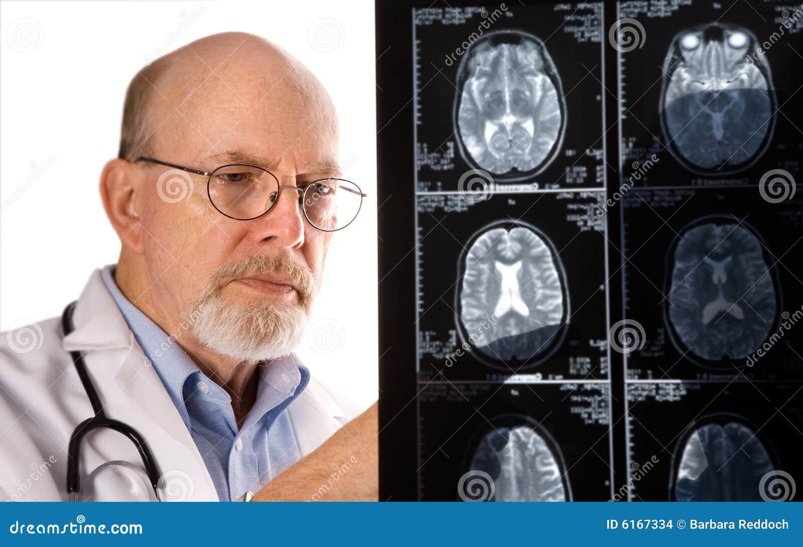 Doctor Viewing MRI Films